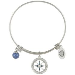 Footnotes Blue Journey Charm Bangle Bracelet