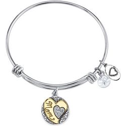 Footnotes I Love You Mom Charm Bangle Bracelet