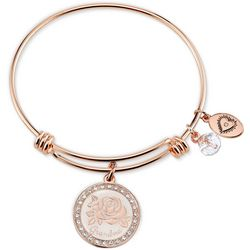 Footnotes Grandma Love Charm Bangle Bracelet