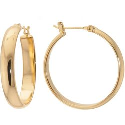 Starfish Box 30mm 24 K Gold Plated Hoop Earrings