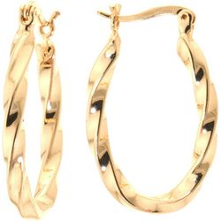 Starfish Box 24K Gold Plated Twist Hoop Earrings