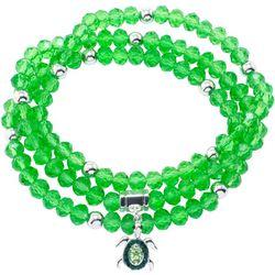 Florida Friends Turtle Charm Glass Beaded Bracelet Set