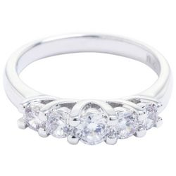 Ocean Treasures Silver Tone Cubic Zirconia Fashion Ring