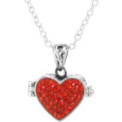 Red Heart Prayer Box Necklace