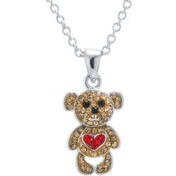 Crystal Teddy Bear Necklace