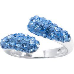 Ocean Treasures Lt Sapphire Rhinestone Swirl Ring