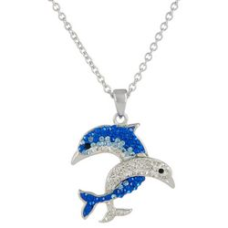 Florida Friends Double Dolphin Necklace