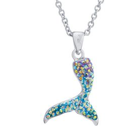 Florida Friends Crystal Mermaid Tail Pendant Necklace