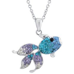 Florida Friends Crystal Fish Pendant Necklace