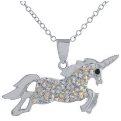 Florida Friends Crystal Unicorn Pendant Necklace