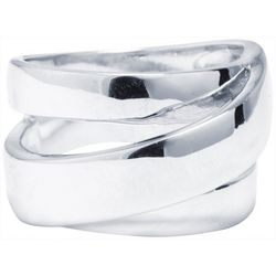 Ocean Treasures Silver-Tone Wrap Around Fashion Ring