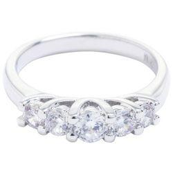 Ocean Treasures Silver Tone Cubic Zirconia Fashion Ring
