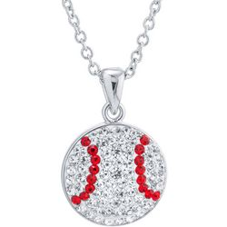 Florida Friends Crystal Elements Baseball Pendant Necklace