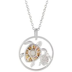 Juilliet Mom Turtle & Baby Pendant Necklace