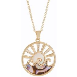 Juilliet MOP & Abalone Ocean Sunset Necklace