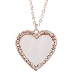 Juilliet Inlaid MOP Shell Heart Necklace