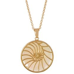 Juilliet Gold Plated MOP Shell Nautilus Necklace