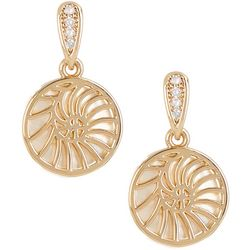 Juilliet MOP Shell Nautilus Disc Drop Earrings