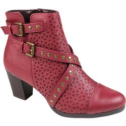 Rialto Womens Fuchsia Studded Ankle Boots