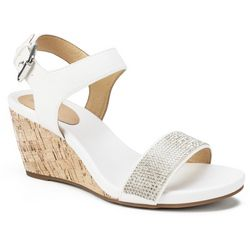White Mountain Womens Phillis Wedge Sandals
