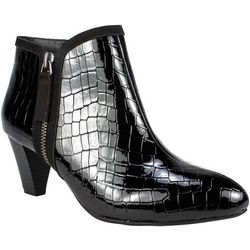 Rialto Womens Starbright Croc Ankle Boots