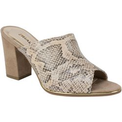 Rialto Womens Wendall Snake Print Sandals