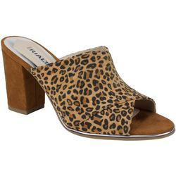 Rialto Womens Wendall Leopard Sandals