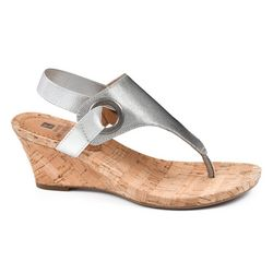 White Mountain Womens Aida Wedge Sandals