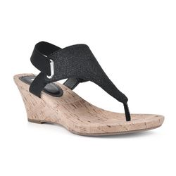 White Mountain Womens All Good Wedge Sandals