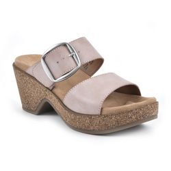 White Mountain Womens Copious Clog Platform Sandals