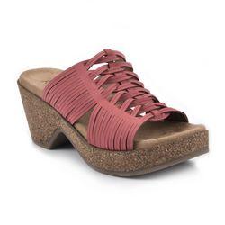 White Mountain Womens Crete Platform Sandals