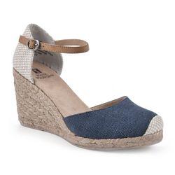 White Mountain Womens Mamba Wedge Sandals