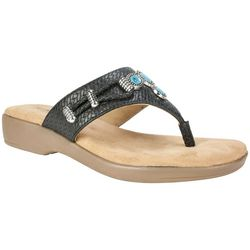 Rialto Womens Turquoise Woven Thong Sandals
