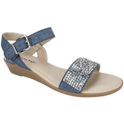 Rialto Womens Genette Rhinestone Sandals