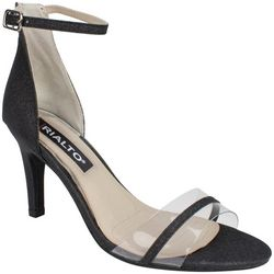 Rialto Womens Revere Clear Strap Detail Dress Sandals