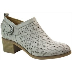 White Mountain Womans Astrid Buckle Ankle Boots