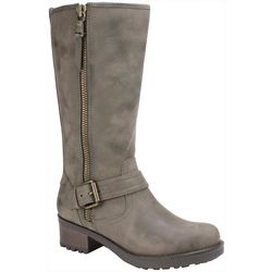 White Mountain Womans Backbeat Buckle Tall Boots