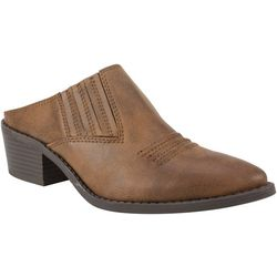 White Mountain Womens Carleton Cowboy Mules