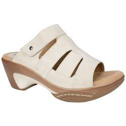 Rialto Womens Venus Sueded Slip-On Sandals