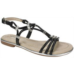 Rialto Womens Zoel Metal Accent Sandals