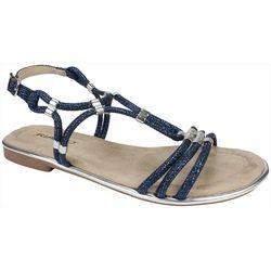 Rialto Womens Zoel Metal Accent Sandals
