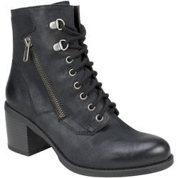 White Mountain Womens Dorian Combat Ankle Boots