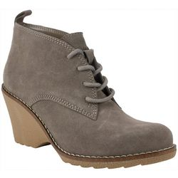 White Mountain Womens Lambert Lace Up Booties