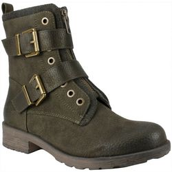 White Mountain Womens San Diego Buckle Ankle Boots
