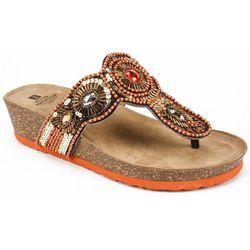 White Mountain Womens Blast Jeweled Thong Sandals