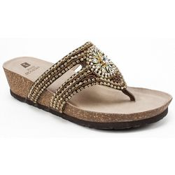 White Mountain Womens Busy Thong Sandals