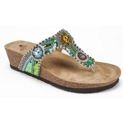 White Mountain Womens Bluejay Thong Sandals