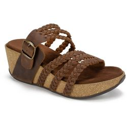 White Mountain Womens Chantilly Braided Sandals