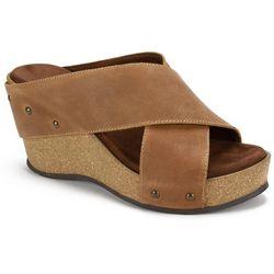 White Mountain Womens Cutter Wedge Sandals