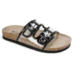 White Mountain Womens Hilda Clear Sandals